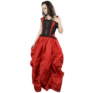 Red Taffeta Ball Gown Skirt