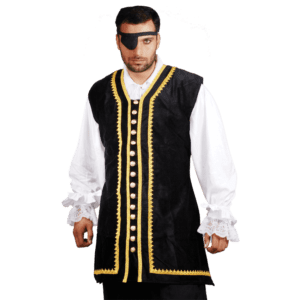 Pirates Captain Peter Long Velvet Vest