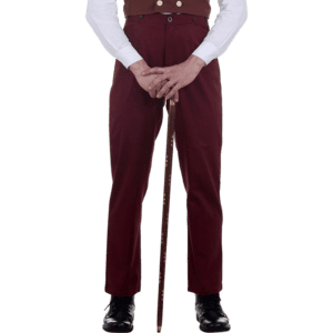 Classic Maroon Steampunk Trousers