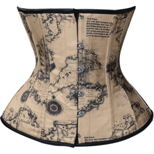Steampunk Map Underbust Corset