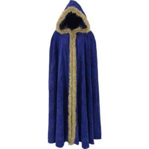 Fur Trimmed Cloak with Hood
