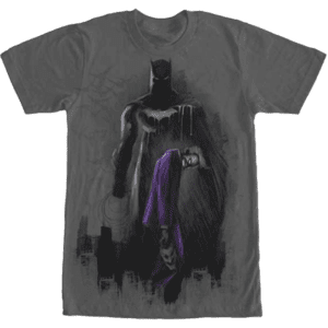 Batman and Joker Graffiti Print T-Shirt