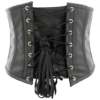 Black Faux Leather Buckled Strap Waspie