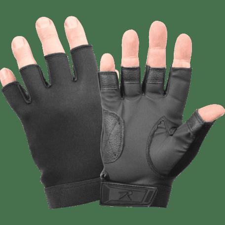 Black Fingerless Neoprene Combat Gloves