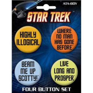 Star Trek Legendary Quotes Button Set