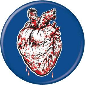 Bleeding Heart Zombie Button
