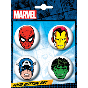 Marvel Classic Heroes Button Set