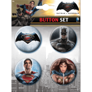 Dawn of Justice Superhero Button Set