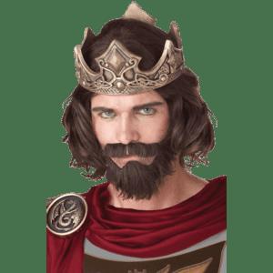 Brown Medieval King Wig