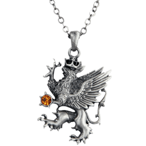 Rampant Griffin Necklace