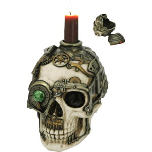 Steampunk Skull Trinket Box and Candle Holder