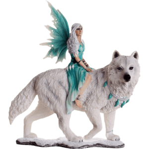 Aneira of the Winter Wolves Fairy Statue
