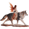 Admina of the Red Wolves Fairy Statue