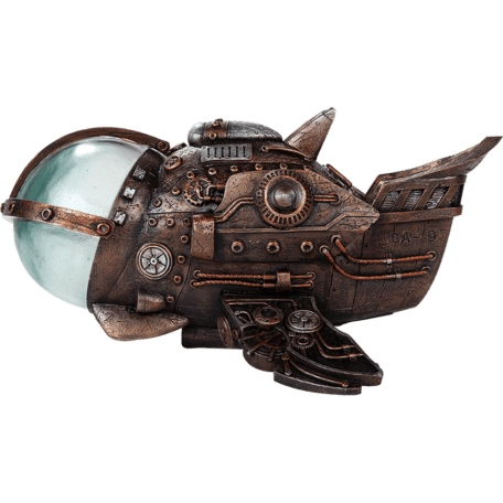 Steampunk Airplane LED Statue