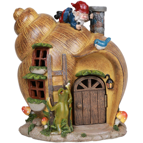 Snail Shell Gnome Home
