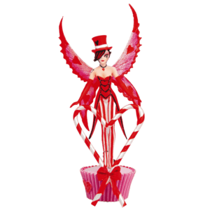 Candy Cane Sugarsweet Fairy Statue