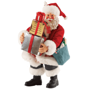First Class Holiday - Santa Christmas Figurine by Possible Dreams