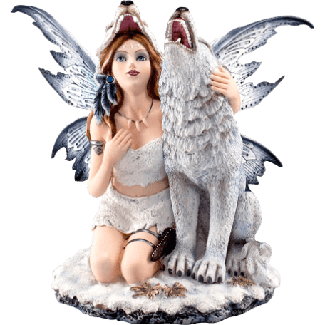 Howling Wolf Fairy Statue