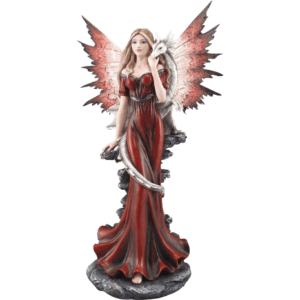 Red Fairy and Dragon Statue