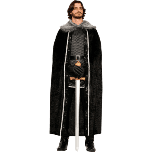 Mens Fur Trimmed Costume Cape