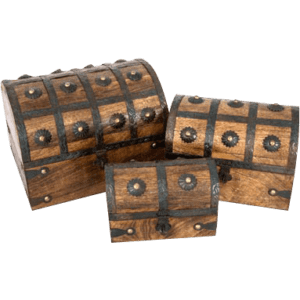Wooden Pirate Chests Set