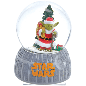 Star Wars Musical Santa Yoda Water Globe