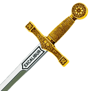 Miniature Gold Excalibur by Marto
