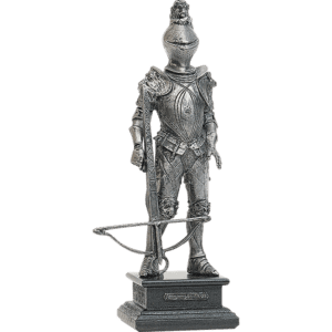16th Century Pewter Knight with Crossbow