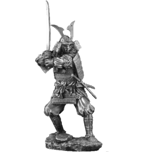 Pewter Kagemusha Sculpture