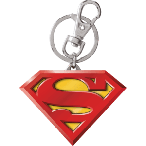 Colored Superman Logo Keychain