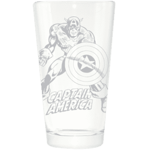 Captain America Etched Pint Glass