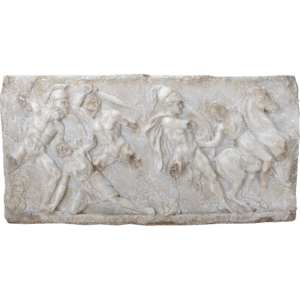 Battle Between the Greeks and Amazons Wall Plaque