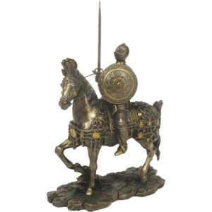 Armored Knight on Horse Statue