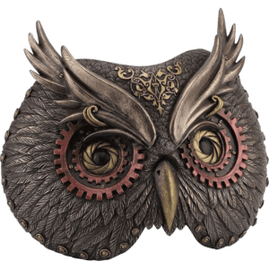 Steampunk Owl Mask Wall Plaque