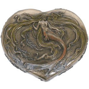 Heart-Shaped Mermaid Trinket Box