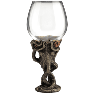 Steampunk Octopus Wine Glass
