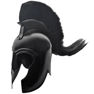 Black Plumed Trojan Helm