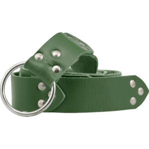 Fighters Leather Ring Belt - Green