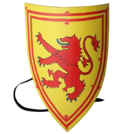 Yellow and Red Wolf Heater Shield