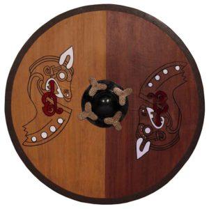 Round Horse Warrior Viking Shield