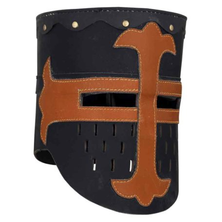 Leather Black Knights Great Helm