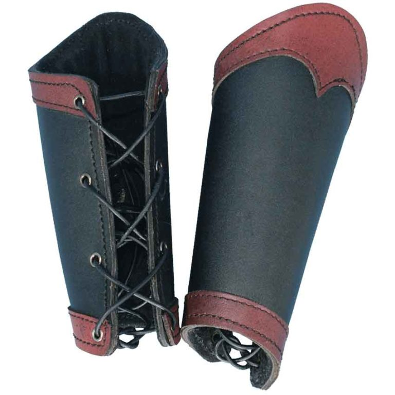 Warriors Leather Arm Bracers