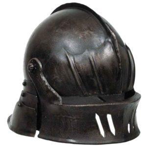 Gothic Sallet Helmet – Dark Metal Finish
