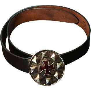 Crusaders Cross Buckle Belt