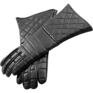 Black Leather Gauntlets