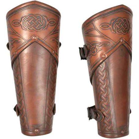 Celtic Mantikor Leather Bracers