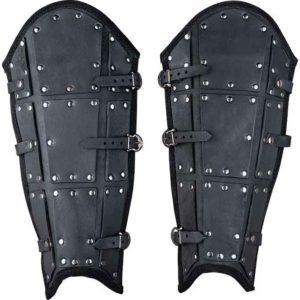 Quintus Leather Greaves – Premium Version