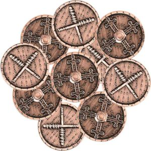 Set of 10 Copper Barbarian LARP Coins