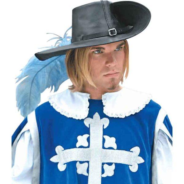 Leather Cavalier Hat