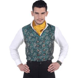 Double-Breasted Brocade Vest